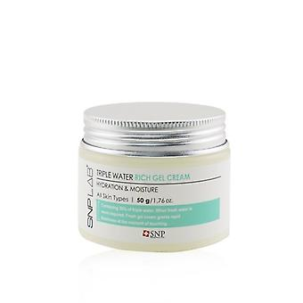 SNP Lab+ Triple Water Rich Gel Cream - Hydration & Moisture (For All Skin Types) (Exp. Date 06/2021) 50g/1.76oz