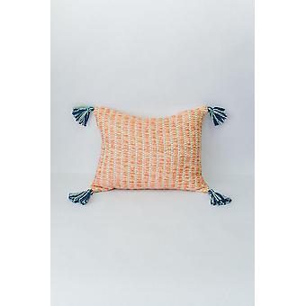 Jardin Pillow Apricot + Seaglass