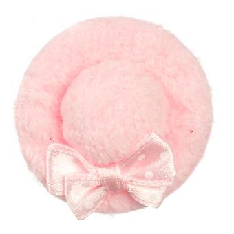 Dolls House Miniature Shop Girls Lady's Lisävaruste vaaleanpunainen samettihattu jousella