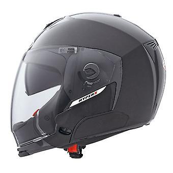 Caberg Hyper X Metal Helmet Gloss Black Integrated Sun Visor ACU Approved XS