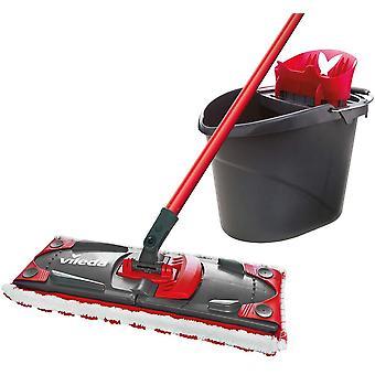 Vileda UltraMat 168309 2-in-1 Complete Set Floor Mop Set with Bucket, Flat Wiper and Mop Cover