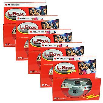 5x foto porst wegwerp camera / bruiloft camera / agfa (camera's 27 foto's flash 5 pack)