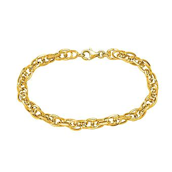 """14k Yellow Gold Euro Link Chain Womens Necklace, 18"""""""