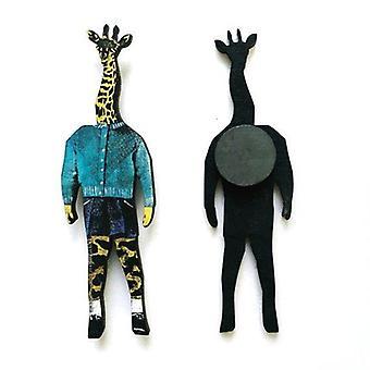 Retro Giraffe Magnet
