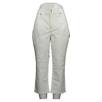 NYDJ Women's Pants Embrace Skinny Crop W/ Side Slits - Optic White A377695