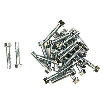Bike It Carbon Steel Flange Head Bolts M6 x 30mm (25Pcs)