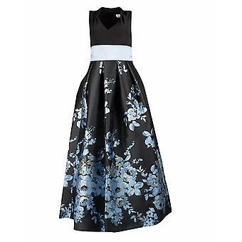 Suknia balowa z kwiatowym nadrukiem