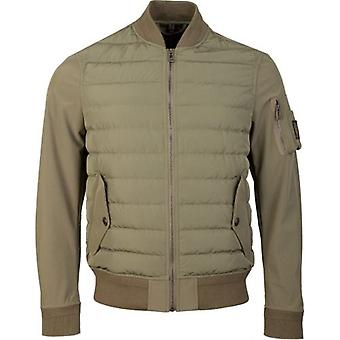 Belstaff Mixed Media Soft Shell Mantle Jacket