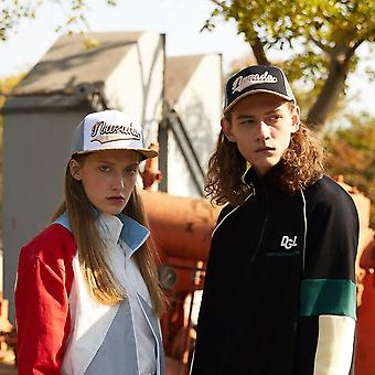 Couple Hip Hop Cap, Cotton Embroidery Spring Summer Breathable Mesh Wood