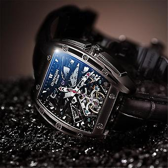 GUANQIN GJ16147 Rectangle Creative Style Men Wrist Watch Genuine Leather Band A