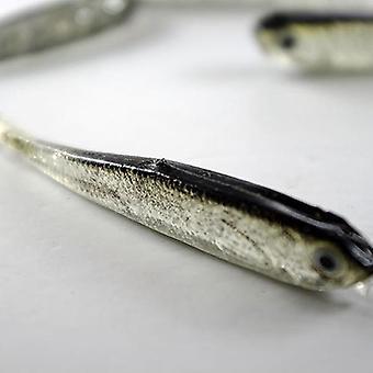 Harmaa pehmeä silikoni kalastus houkutus syötti makean veden suolavesi