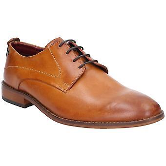 Base script washed leather mens formal shoes tan UK Size