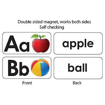 Abc Picture Words Double-Sided Magnets, 27 Pièces
