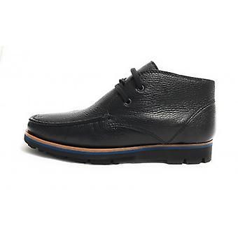 Polish Elite Men's Shoes In Deer Leather Black Color U18el03