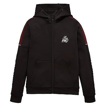 Kings will dream boys nisha grid black hoodie j621