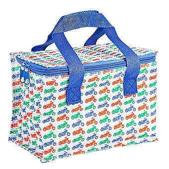 Insulated Lunch Bag Patterned Foil Lined Picnic Sandwich Box Motorhead