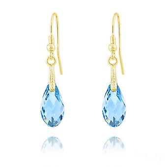 24K gold aquamarine  earrings