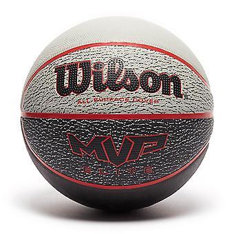ويلسون MVP النخبة جميع سطح الغطاء كرة السلة الكرة الأحمر / الأسود