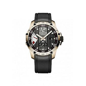 Chopard Superfast Power Control Black Dial 18kt Rose Gold Black Rubber Men's Watch 161291-5001