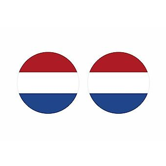 2x stick klistermärke rund cocarde flagga lågt land Holland Holland
