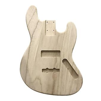 Polished wood type electric guitar barrel diy maple body for jb style bass