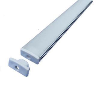 5050 5630 Led Strip Aluminum Alloy Flat Shell + Pc Cover