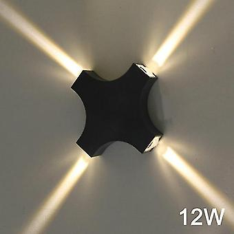 أدى الإضاءة في الهواء الطلق مصباح جدار ماء IP65 الألومنيوم جبل الشمعدان ac110v 220v ديكور غرفة المعيشة المنزلية