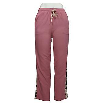 Cuddl Duds Kvinder 's Petite Pants Fleece Afslappet PJ Pink A381766