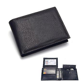 Casual män & plånböcker läder solid lyx plånbok män pu läder slim bifold korta plånböcker kreditkort innehavare företag manlig handväska