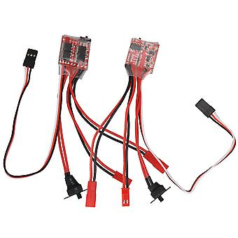2Pcs ESC 20A Electronic Brush Motor Speed Controller with Brake for RC