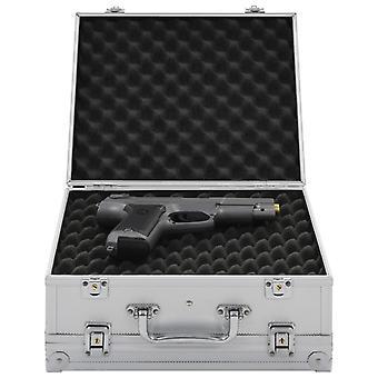 vidaXL حالة سلاح الألومنيوم ABS الفضة