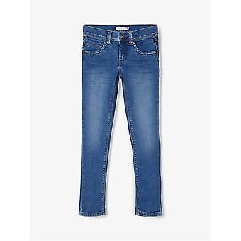 Namn Det Barn Silas Denim Jeans Light Wash Byxor Bottnar