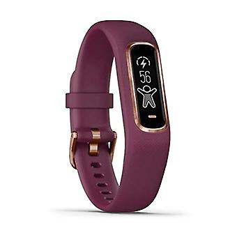 Garmin Vivosmart 4 Smart Fitness Tracker with Touch Screen, Cardio and Pulse Ox Sensor, Berry/Rose Gold, Small/Medium