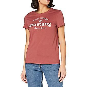 MUSTANG Alina C Print T-Shirt, Dark Red, XS Woman
