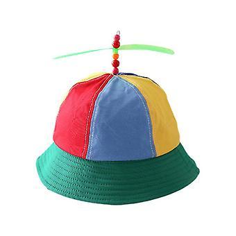 Kids Cotton Helicopter Propeller Bucket Cap