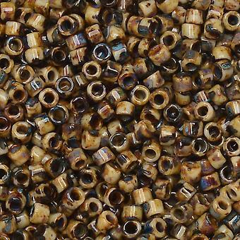 Miyuki Delica Fröpärlor, 11/0 Storlek, 7,2 Gram Tube, #2267 Picasso Brown Tan Matte