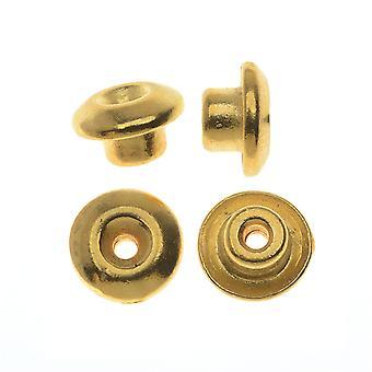TierraCast Pewter, Klassiset eurooppalaiset bead aligners 7mm, 4 kappaletta, 22K kullattu