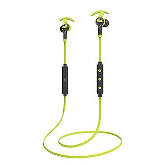Ksix - Go and Play Sport 3 Wireless Headphones with Microphone - grey green