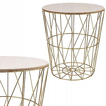 Coffee table metal basket – 35 cm – Rose gold – Side table