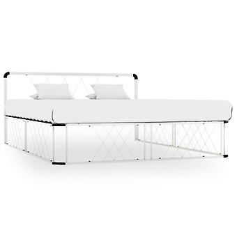Bedframe Metal Blanco 160x200 cm