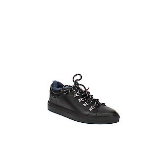 Bally   Heidi Leather & Shearling Lace-Up Sneakers