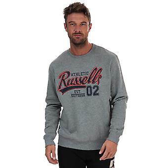 Men's Russell Athletic Crew Neck Sweatshirt in Grey