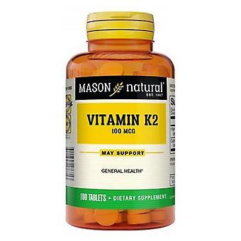 Mason Vitamin K2-MK4, 100 mcg, 100 Tabs