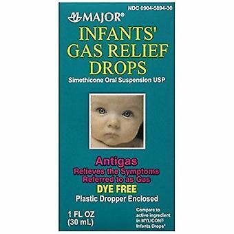 Tärkeimmät lääkkeet Infant Gas Relief Major 40 mg / 0,6 ml Lujuus Oraalipisarat 1 oz., 1 Kukin