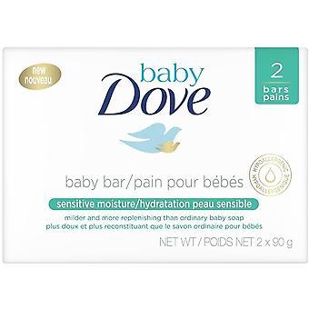 baby due følsom fuktighet rensing bar 2x90g
