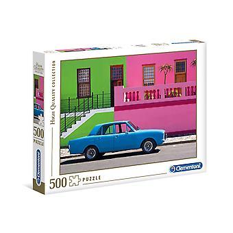 Clementoni The Blue Car Puzzle de haute qualité (500 pièces)