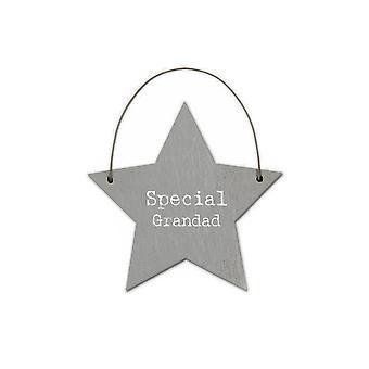 Special Grandad - Mini Wooden Hanging Star - Cracker Filler Gift