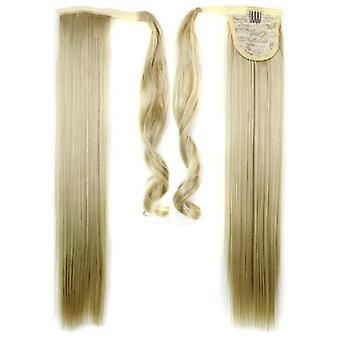 (60cm24-613#) Hosszú egyenes haj wrap Lófarok Klip a Pony Tail Hair Extensions Természetes