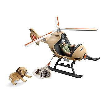 Wild Life Animal Rescue Helicopter With Toy Figures & Accessories 42476