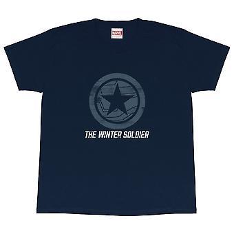 Camiseta oficial da Marvel Kids The Falcon & The Winter Soldier Logo Boys Girls